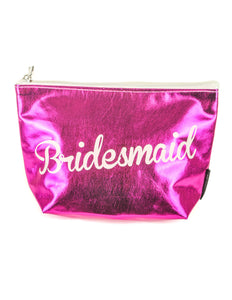 60006: FYDELITY- Zip Pouch: BRIDESMAID Metallic Magenta