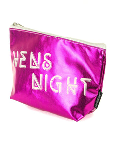 60009: FYDELITY- Zip Pouch: HENS NIGHT Metallic Magenta