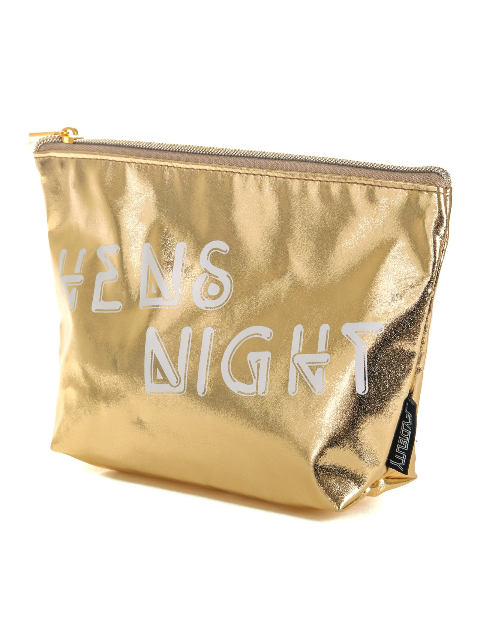 60019: FYDELITY- Zip Pouch: HENS NIGHT Metallic Gold