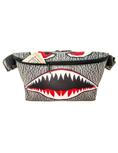 81442: FYDELITY- XL Ultra-Slim Fanny Pack: FLYING TIGER Shark