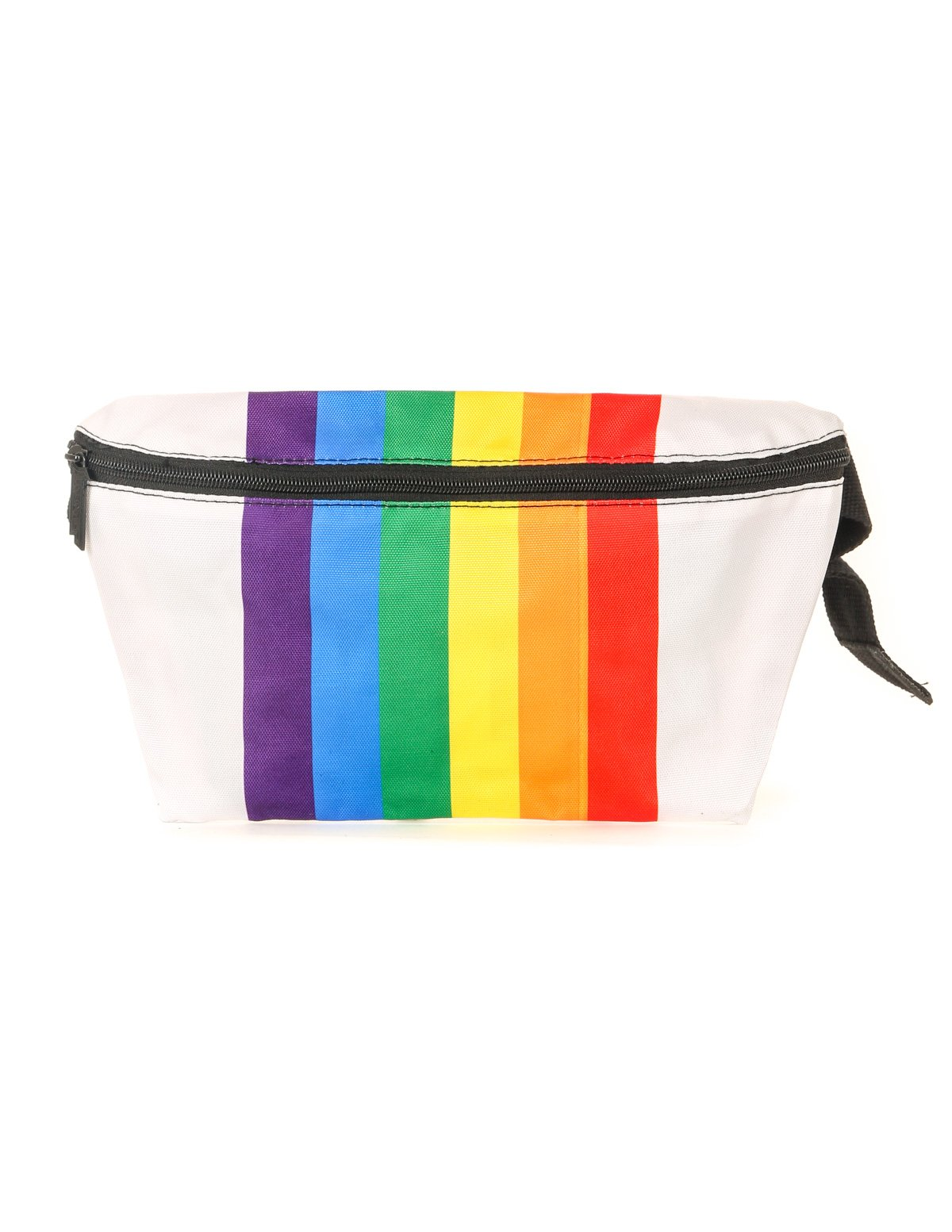 81457: FYDELITY- XL Ultra-Slim Fanny Pack: PRIDE Rainbow Stripe