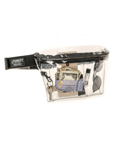 81501: FYDELITY- XL Ultra-Slim Fanny Pack: CRYSTAL Clear