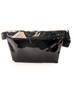 81520: FYDELITY- XL Ultra-Slim Fanny Pack: PATENT Black