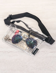 82001: FYDELITY- Ultra-Slim Fanny Pack: CRYSTAL Clear