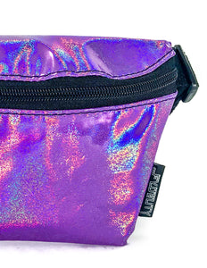 82972: FYDELITY- Ultra-Slim Fanny Pack: LASER Purple