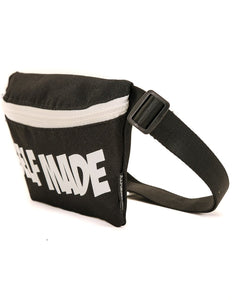 83005: FYDELITY- Ultra-Slim Fanny Pack: WERDS Self Made |Black & White