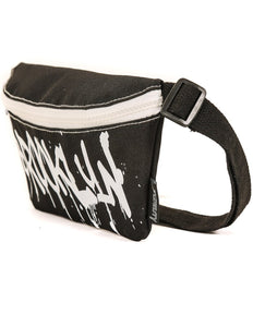83010: FYDELITY- Ultra-Slim Fanny Pack: WERDS Brooklyn |Black & White