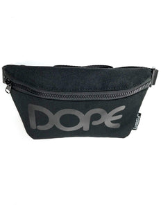 83029: FYDELITY- Ultra-Slim Fanny Pack: WERDS Dope |Black & Black