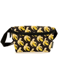 83059: FYDELITY- Ultra-Slim Fanny Pack: Black Banana