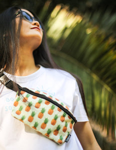 83117: FYDELITY- Ultra-Slim Fanny Pack: Pineapple
