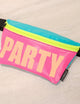 83144: FYDELITY- Ultra-Slim Fanny Pack: WERDS Glow in the Dark PARTY