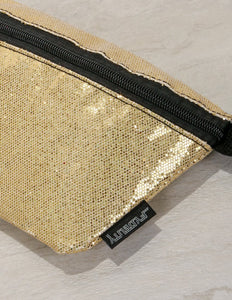 83263: FYDELITY- Ultra-Slim Fanny Pack: GLAM Gold