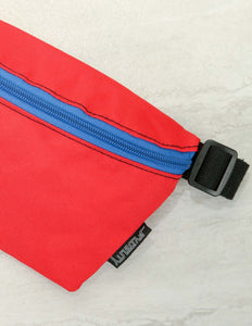 83285: FYDELITY- Ultra-Slim Fanny Pack: GAME DAY Red & Blue