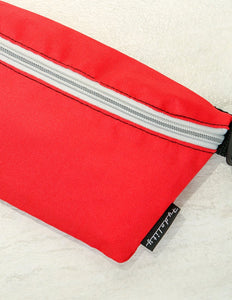 83289: FYDELITY- Ultra-Slim Fanny Pack: GAME DAY Red & Grey