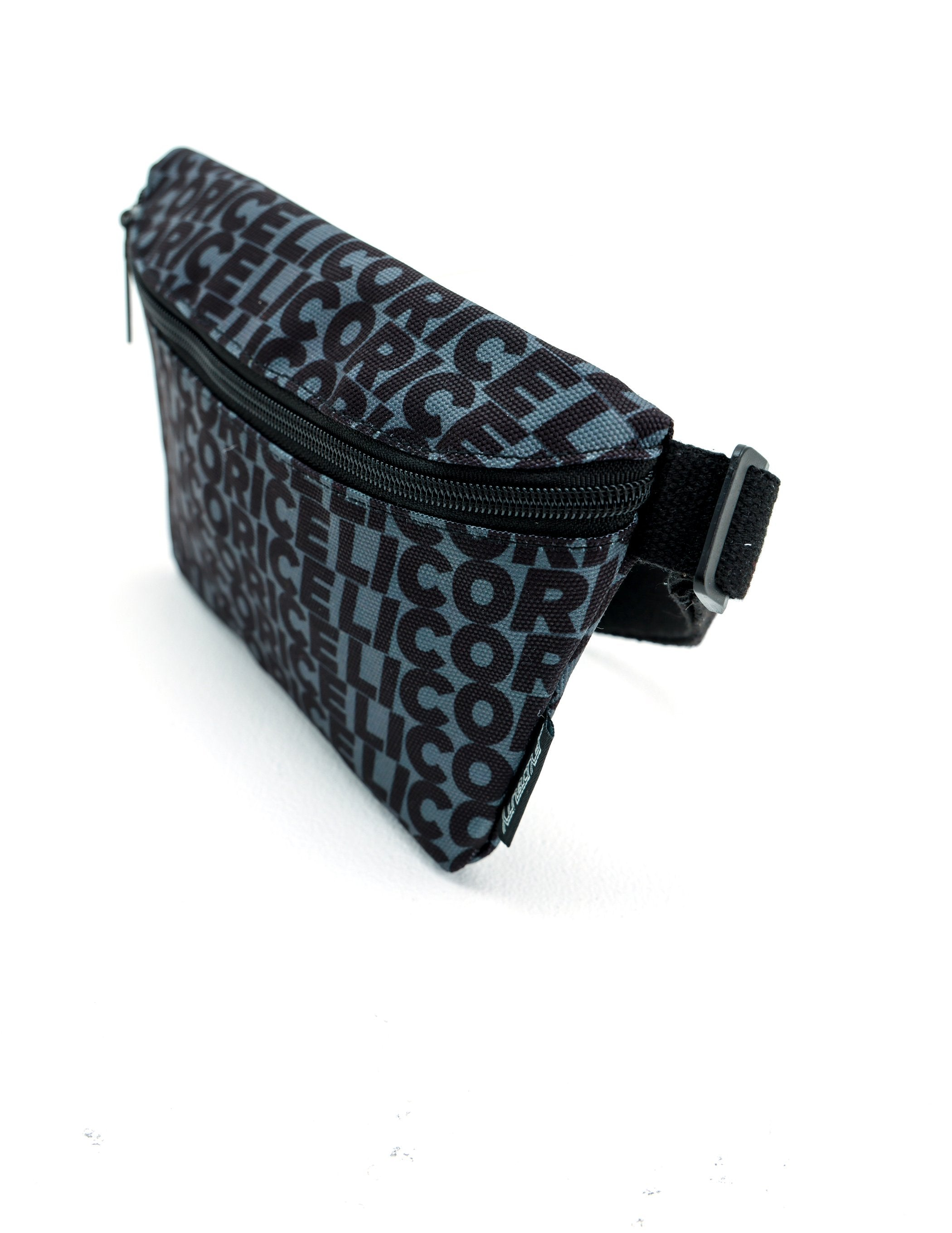 "83362: FYDELITY- Ultra-Slim Fanny Pack ""Bite"" Licorice Black"