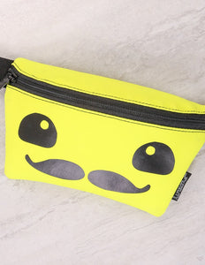 83383: FYDELITY- Ultra-Slim Fanny Pack: FRIENDS MOUSTACHE