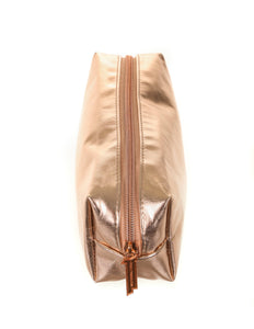 83635: FYDELITY- Pencil Pouch: METALLIC Rose Gold