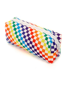 83654: FYDELITY- Pencil Pouch: PRIDE INDY Check Rainbow