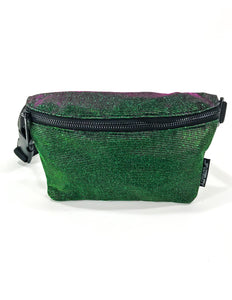 83802: FYDELITY- Ultra-Slim Fanny Pack: LUX AURORA Green/Purple