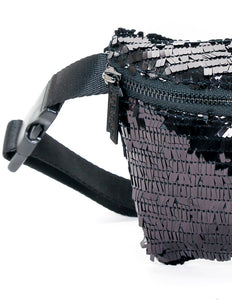 83821: FYDELITY- Ultra-Slim Fanny Pack: LUX FLAPPER Black