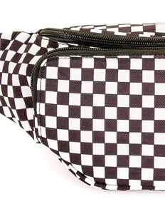 83901: FYDELITY- Bum Bag: INDY Check Black