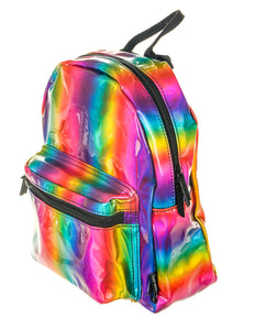 86209: FYDELITY- Mini Backpack: METALLIC Rainbow