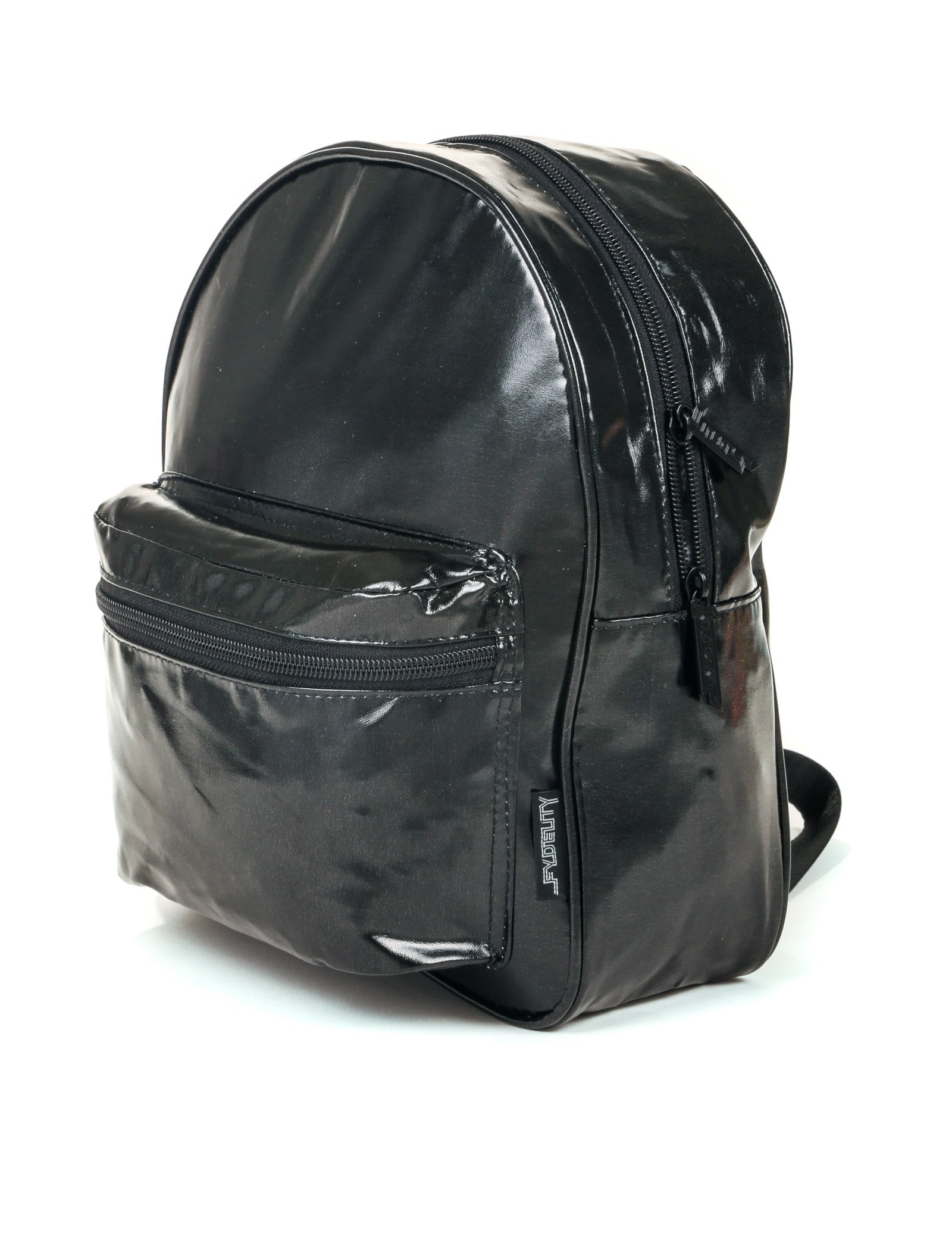 86210: FYDELITY- Mini Backpack: METALLIC Black