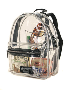 86301: FYDELITY- Mini Backpack: CRYSTAL Clear