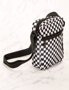 88355: FYDELITY- Sidekick Brick Bag: INDY Check Black