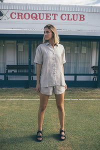 Essential Linen Shirt - Stone