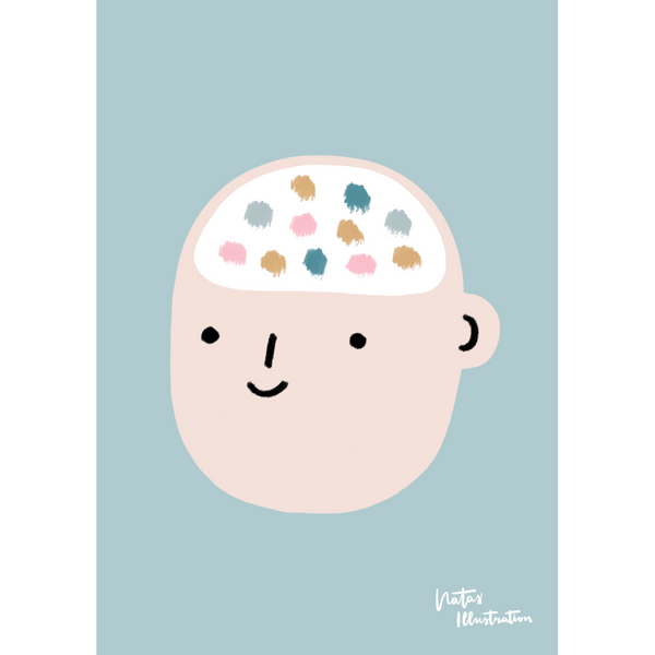 Mindfulness Poster 2020: »Thoughts & Feelings« | Gestaltung: natasillustration