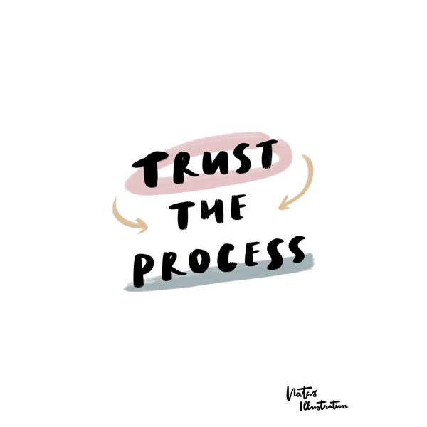 Mindfulness Poster 2020: »Trust The Process« | Gestaltung: natasillustration