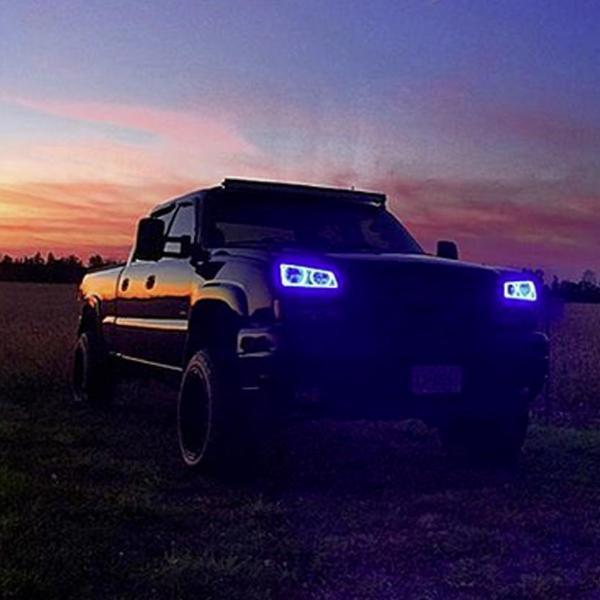 Chevrolet Silverado (03-06) Halo Kit (Upper Halos Only) - Headlightleds.com