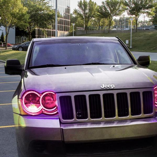 Jeep Grand Cherokee (05-10) Halo Kit - Headlightleds.com