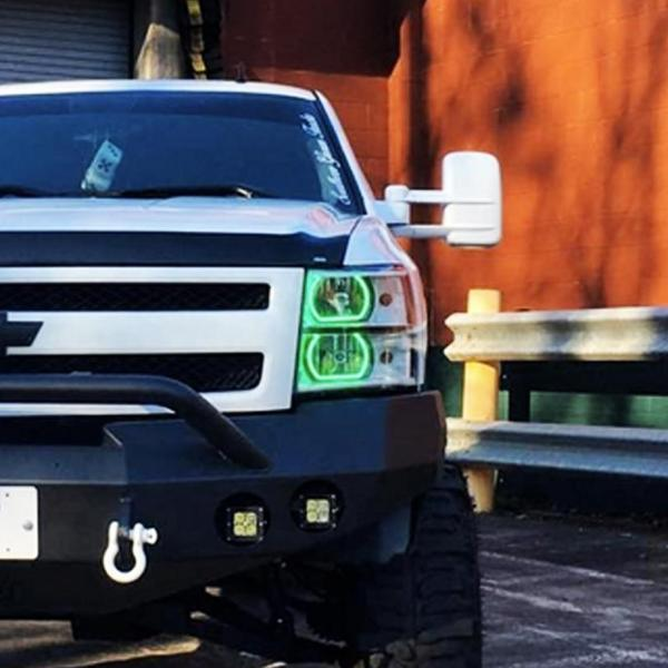 Chevrolet Silverado (07-13) Flat Bottom Halo Kit - Headlightleds.com