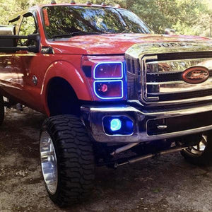 Ford Super Duty (11-16) Halo Kit - Headlightleds.com
