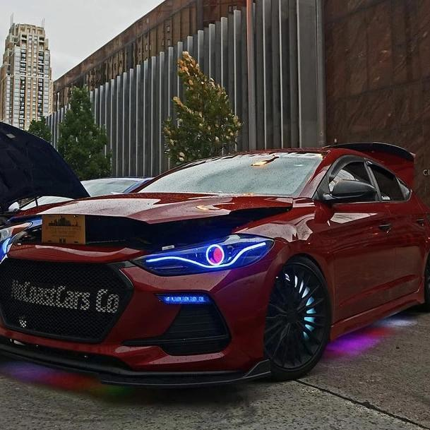 Hyundai 2017-2018 Elantra Sport Flow Halo Kit - Headlightleds.com