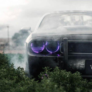 Dodge Challenger (08-14) Halo Kit - Headlightleds.com