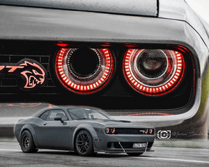 Dodge Challenger (15-20) Halo Kit - Headlightleds.com