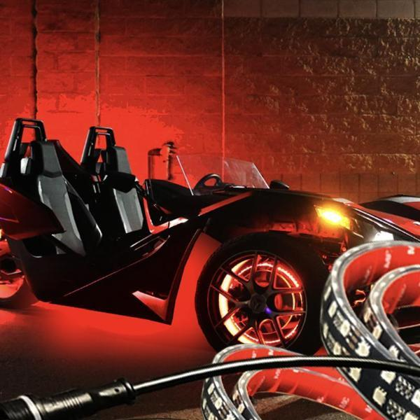 Polaris Slingshot 8-Piece Underbody Kit - Headlightleds.com