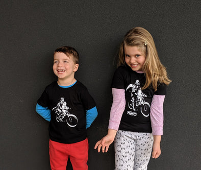 Darth & Luke Mac Ride - CHILDREN'S -  Short Sleeve T-Shirts