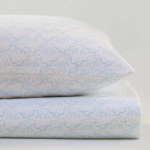 Elephants Cot pillowcase - Addie and Harry