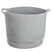 Load image into Gallery viewer, Large Grey Braided Storage Basket - Addie and Harry