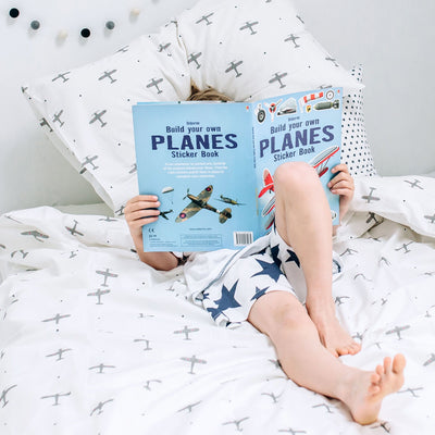 Mini Planes Fitted Sheet - PRE ORDER - Addie and Harry