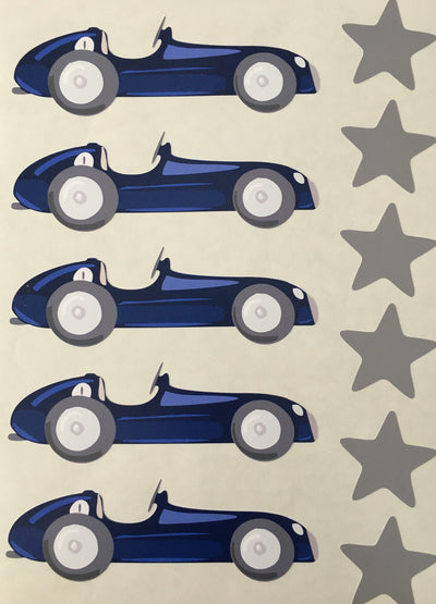 Mini Racer Wall Stickers - Addie and Harry