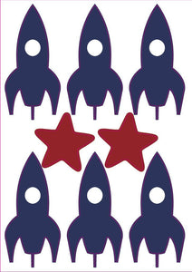 Mini Rocket Wall Stickers - Addie and Harry