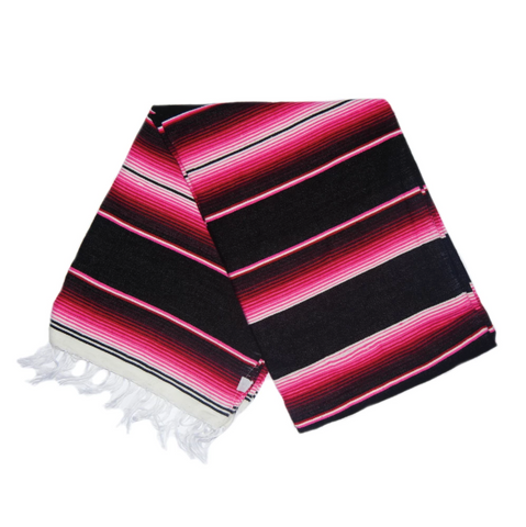 Serape Blanket- Hot Pink and Black