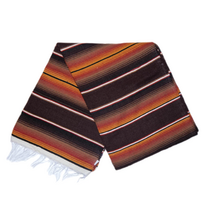 Serape Blanket- Retro Brown