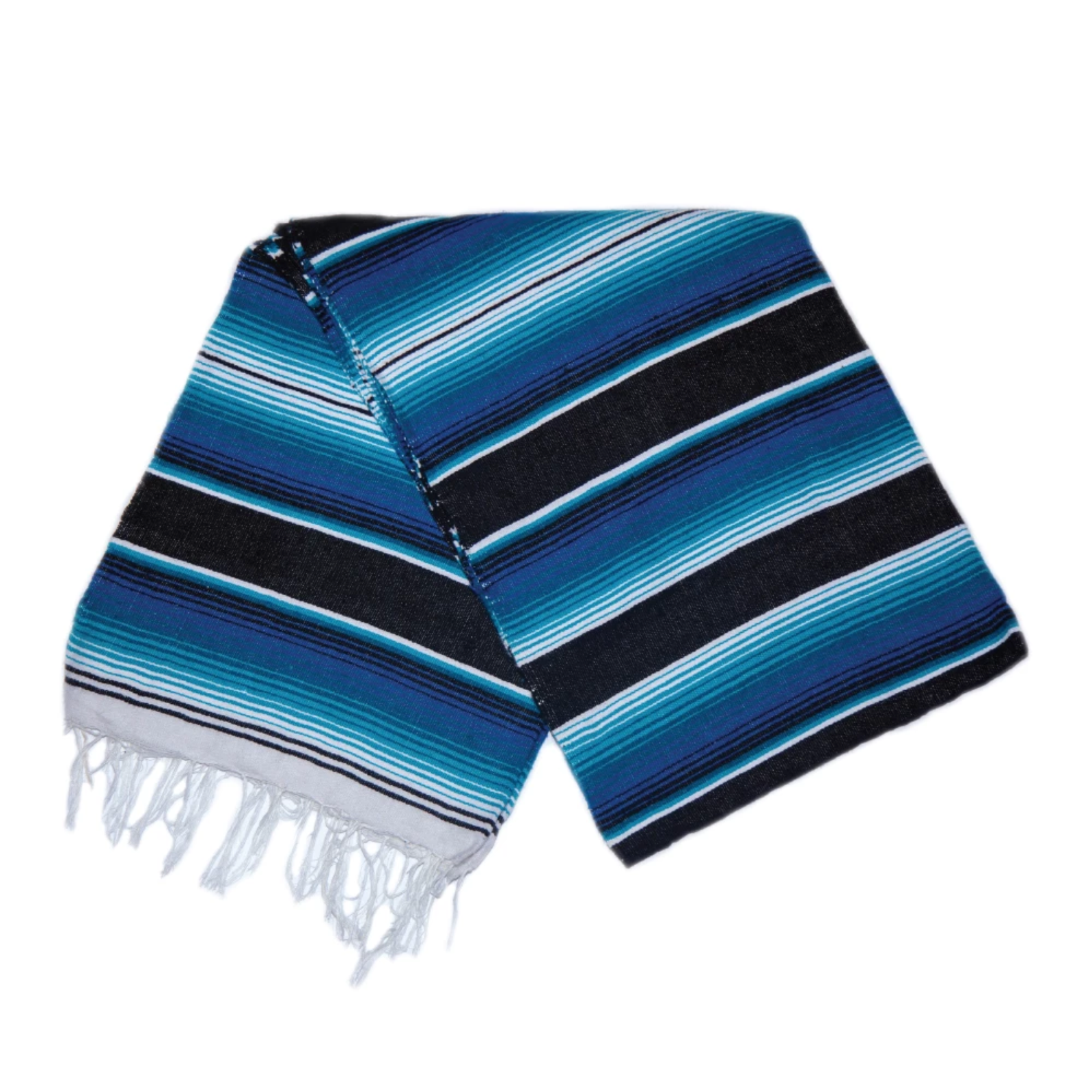 Serape Blanket- Blue and Black