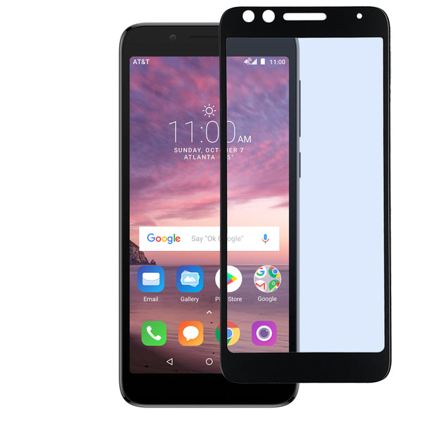 Alcatel 1x Evolve - Tempered Glass Screen Protector - Edge to Edge - Black
